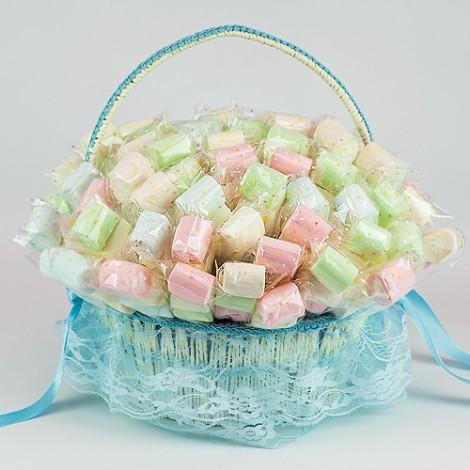 送客禮推薦 棉花糖幸福甜蜜組70入(附提籃) 限時優惠
