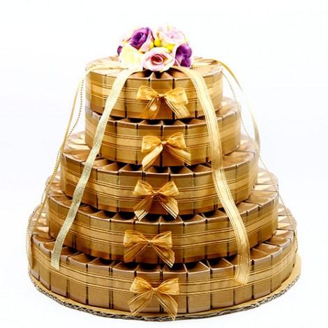 婚禮小物推薦 批發喜糖盒 五層喜糖 蛋糕盒 205入