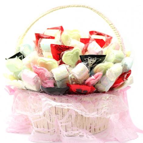 歡樂婚禮棉花糖 喜糖綜合籃 送客禮 限時優惠