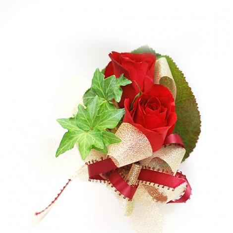 紅玫瑰花 胸花