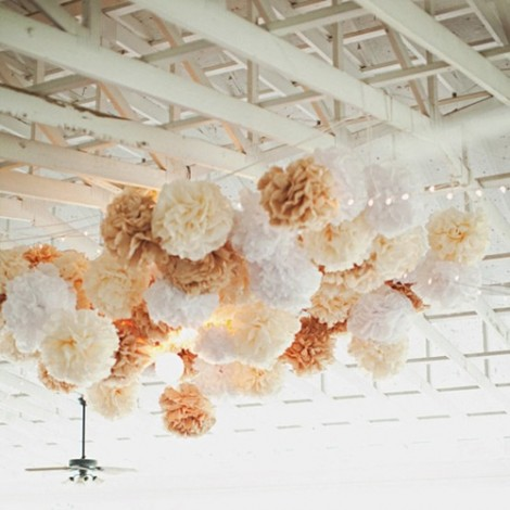 婚禮佈置 13公分鮮豔紙彩球
