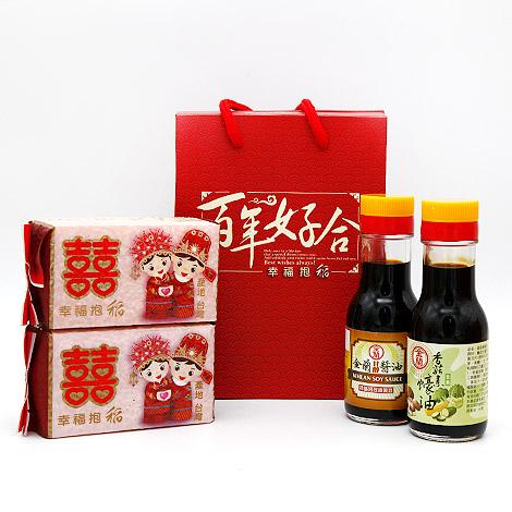 喝茶禮首選 雙雙對對 囍米醬油禮盒