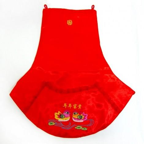 傳統婚禮用品  鴛鴦肚巾(紅/有袋子)