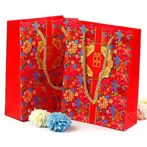 喜氣禮物袋 婚禮小禮物包裝袋子/10入