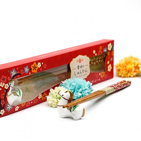 獨家婚禮小物 幸福來到馬上嫁筷架組