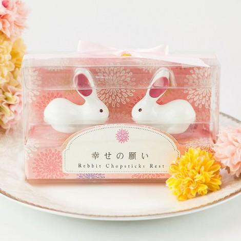 最佳姊妹禮 幸福喜兔 兔造型筷架組