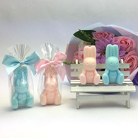 日本小物 可愛兔子造型 手工香皂