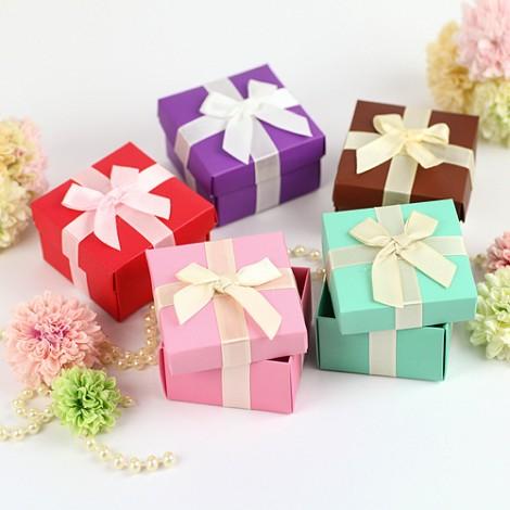 婚禮小物批發  粉嫩繽紛喜糖盒 婚禮小物DIY