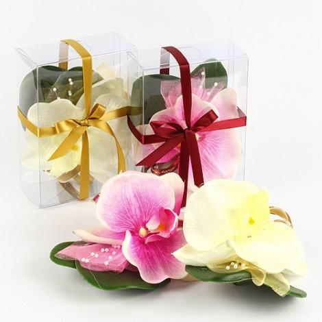 婚禮用品批發 傳統婚嫁必備 人造胸花 單朵蝴蝶蘭