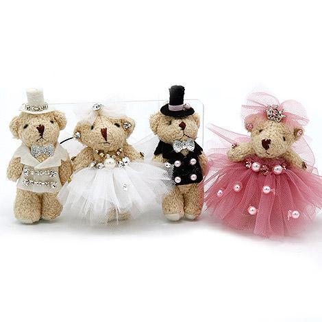 姐妹探房禮 迷你婚禮熊吊飾