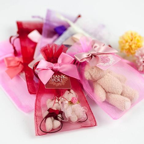 婚禮小物批發 DIY材料 小巧可愛紗袋