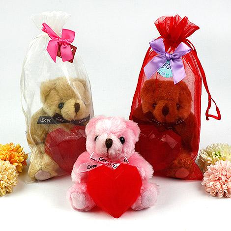 婚禮小物推薦 愛心香皂熊 附紗袋