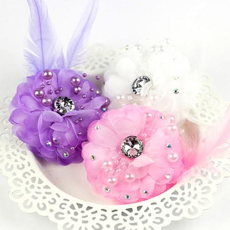 婚禮用品推薦 繽紛幸福花朵珠鑽胸花/夾