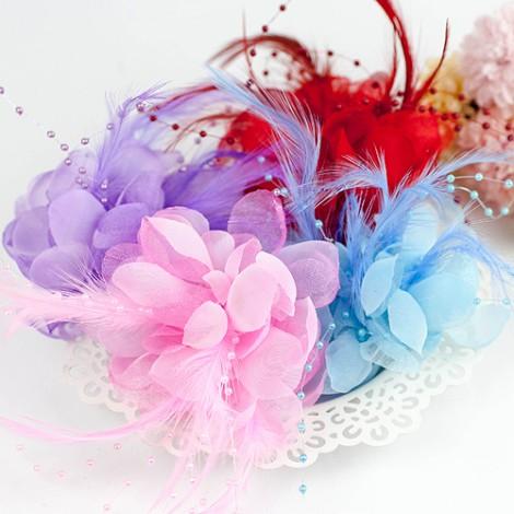 推薦婚禮用品 繽紛珠綴胸花/夾