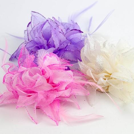 婚禮用品 粉嫩亮晶綁髮/胸花夾