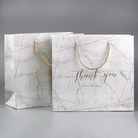 推薦婚禮用品 大理石包裝袋 高貴典雅 禮物包裝紙袋