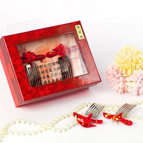 婚禮用品推薦 傳統婚嫁 婚慶婆婆花 新娘花頭飾