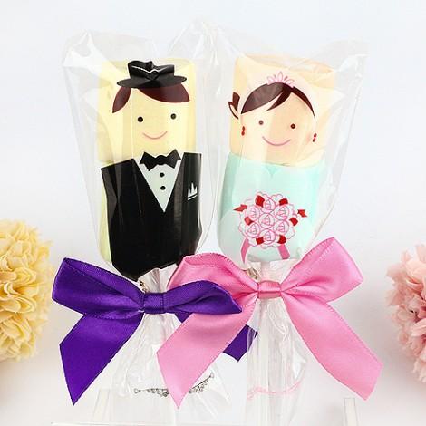 婚禮小物棉花糖  新郎新娘棉花糖串(單串)
