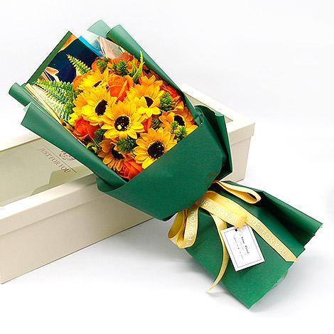 畢業禮物推薦 青春飛揚向日葵香皂花束