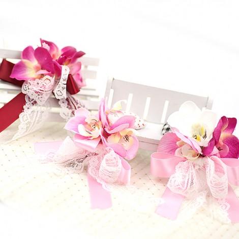 結婚 胸花 俏麗蝴蝶蘭胸花 伴郎伴娘胸花 活動會議胸花