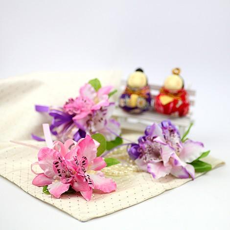 結婚 胸花 典雅東亞蘭胸花  伴郎伴娘胸花 婚禮用品