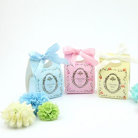 買到賺到 典雅可愛點點玫瑰 喜糖盒 婚禮小物批發 diy 婚禮用品
