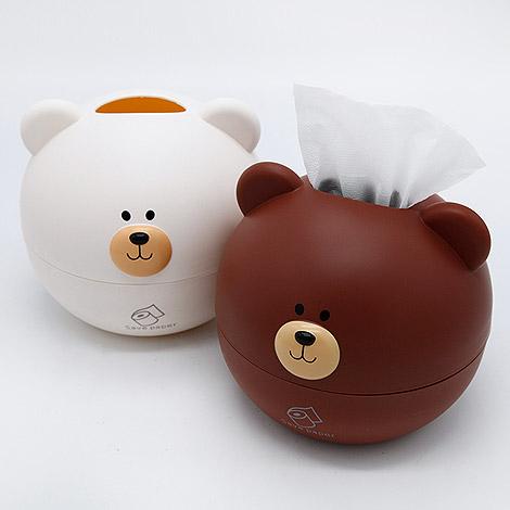 創意禮物 北歐小熊紙巾盒 居家佈置超可愛