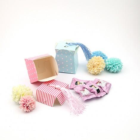 買到賺到 活潑點點條紋流蘇 喜糖盒 婚禮小物批發diy 婚禮用品