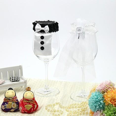 婚禮佈置DIY 創意酒杯裝飾 婚禮用品 幸福婚禮小物實體店面有售