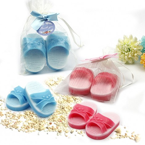 婚禮小物推薦 藍白拖手工香皂 創意禮物