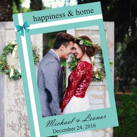 結婚拍照豐富組合 拍婚紗道具必備 蒂芬妮拍照框
