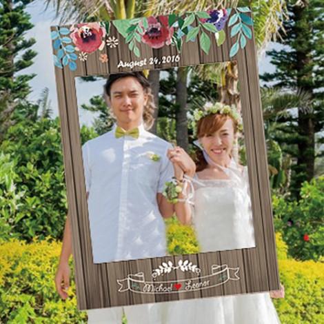 拍婚紗道具必備 花草拍照框 結婚拍照創意無限
