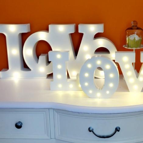 婚禮布置 木頭字母燈 客製化商品