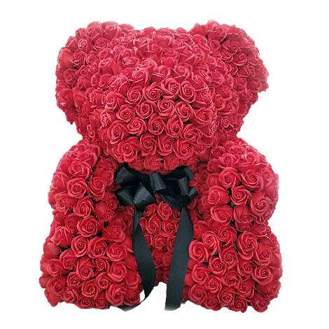 情人節送什麼好 客製玫瑰花泰迪熊 擄獲她就靠泰迪熊
