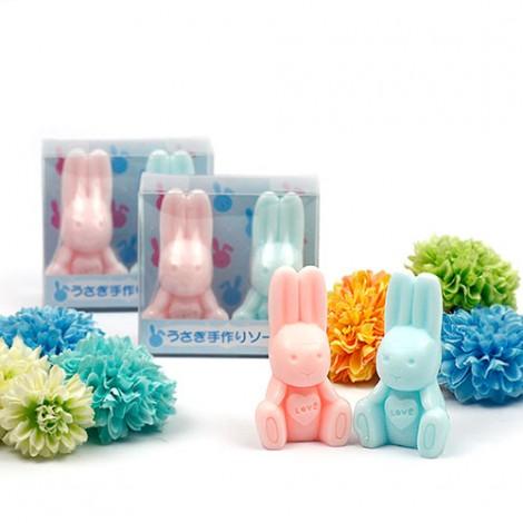 實用婚禮小物 手工對兔造型香皂