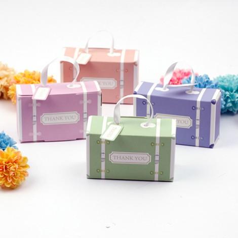 獨家販售 婚禮小物DIY 馬卡龍行李箱 喜糖盒