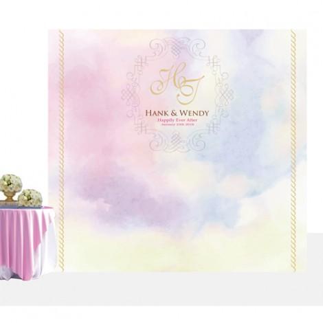 婚禮會場佈置 療癒粉藍水彩風