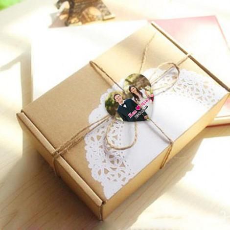 客製化禮品 心型照片款(4cm) 貼紙