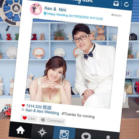 Instagram拍照框 結婚拍照豐富組合 拍婚紗道具必備