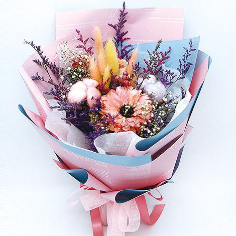 禮物專賣店訂花 甜蜜自然乾燥花束