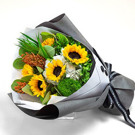 送甚麼父親節禮物 西裝向日葵花束達心意