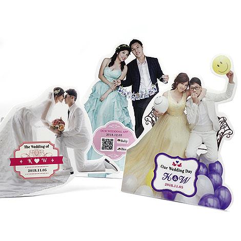 婚宴會場佈置 人形立牌 客製化商品