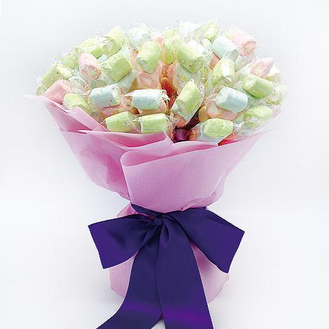二次進場婚禮小物 豐富50入棉花糖 可以會場佈置