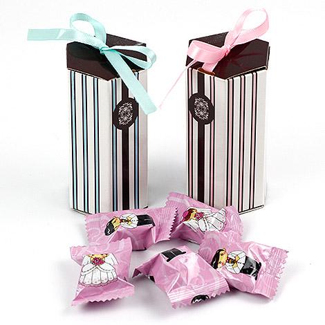 買到賺到 DIY直立條紋喜糖盒 精緻小禮物盒 送客喜糖盒