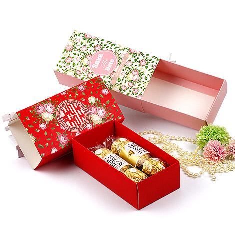 結婚禮物 抽屜式禮物盒DIY 婚禮小物包裝材料 大容量