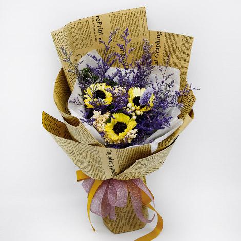 禮物專賣店送花 向日葵乾燥花束