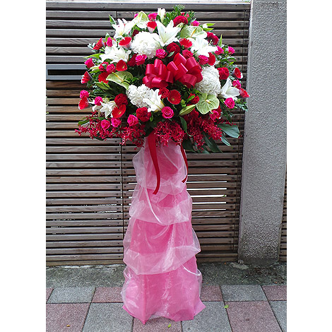 婚禮佈置 結婚禮物玫瑰花籃 婚禮祝賀詞