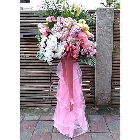 結婚禮品 粉浪漫婚禮花籃 婚禮佈置