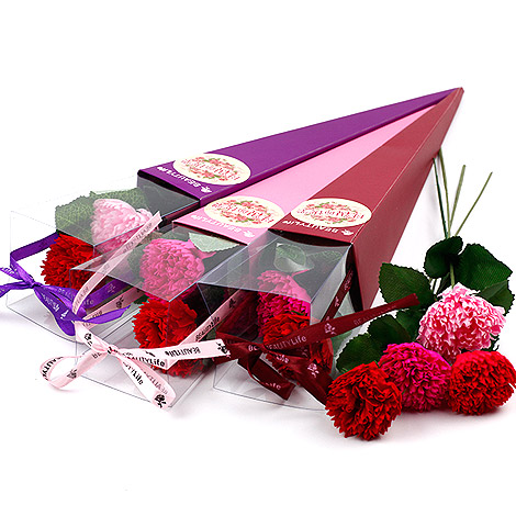 母親節禮物 精緻康乃馨香皂花組合