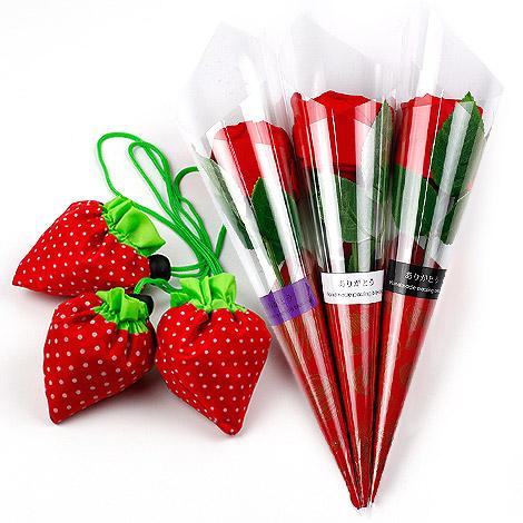 結婚禮物 草莓環保袋花束 結婚祝福
